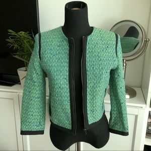 Topshop Cropped Boucle Jacket